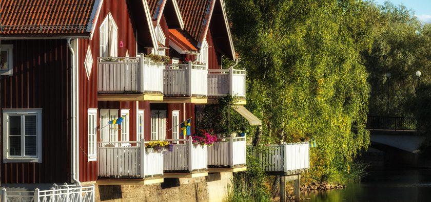 Sommarfina balkonger i Falun
